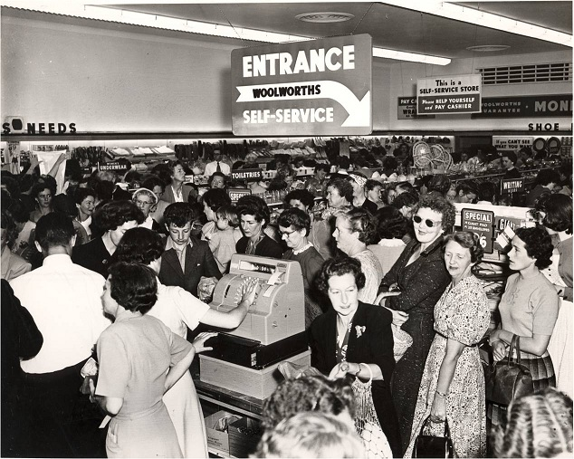 1955: Our first self-service stores