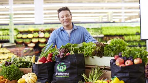 Jamie Oliver opens the Sydney Royal Easter Show in the Woolworths Fresh Food Dome