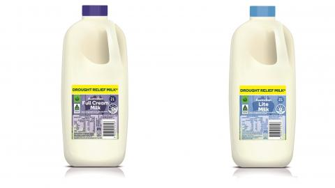 Woolworths Drought Relief Milk to hit the shelves this week